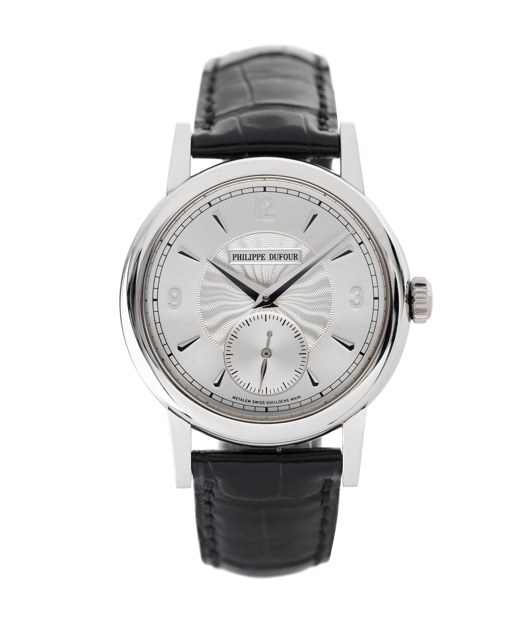 buy early Philippe Dufour Simplicity platinum time-only dress watch for sale online at A Collected Man London UK approved specialist of preowned independent watchmakers