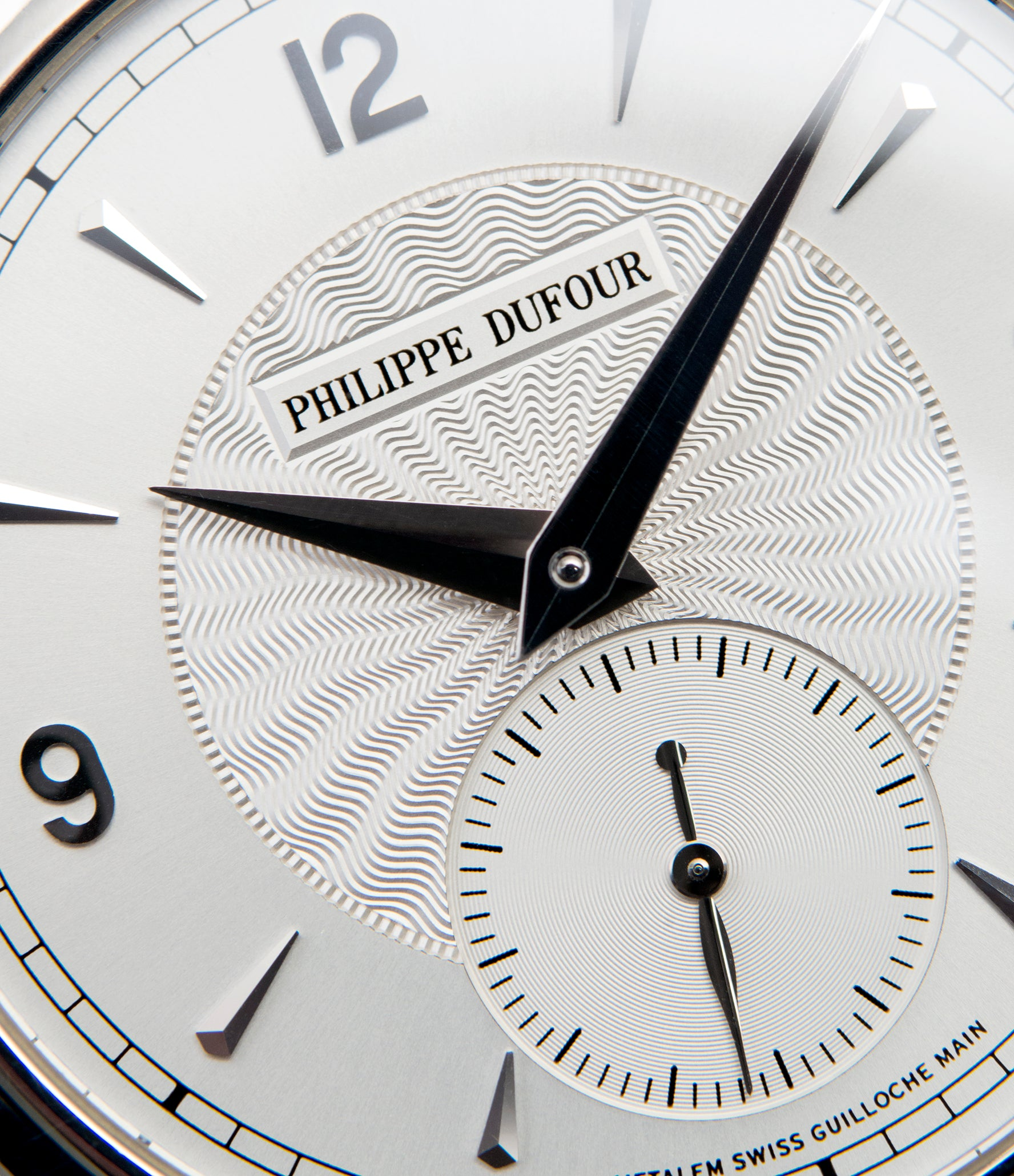 silver guilloche dial Philippe Dufour Simplicity platinum time-only dress watch for sale online at A Collected Man London UK approved specialist of preowned independent watchmakers