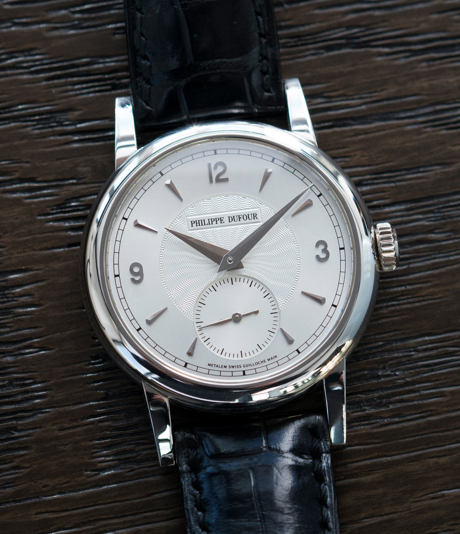 rare men's luxury watch Philippe Dufour Simplicity platinum time-only dress watch for sale online at A Collected Man London UK approved specialist of preowned independent watchmakers