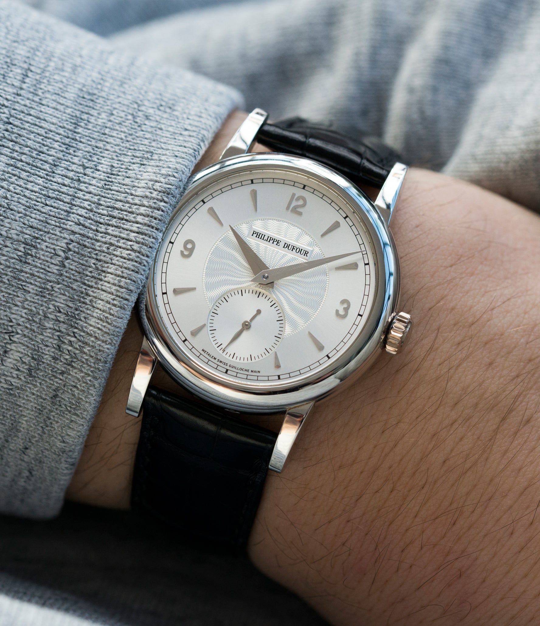 selling rare men's luxury watch Philippe Dufour Simplicity platinum time-only dress watch for sale online at A Collected Man London UK approved specialist of preowned independent watchmakers