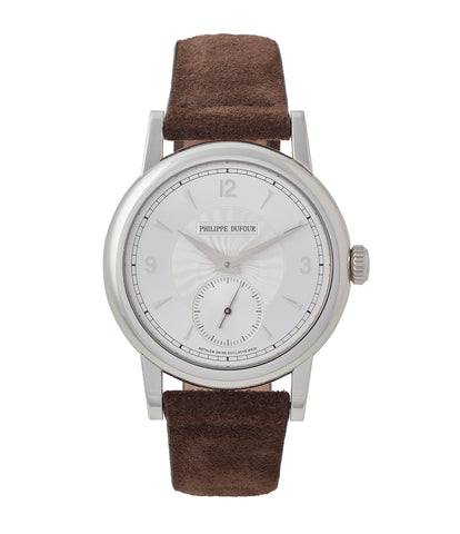 buy Philippe Dufour Simplicity platinum 37mm time-only rare dress watch  for sale at A Collected Man London UK specialist of rare watches