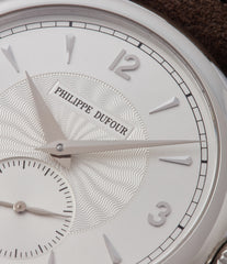 silver dial Philippe Dufour Simplicity platinum 37mm time-only rare dress watch  for sale at A Collected Man London UK specialist of rare watches