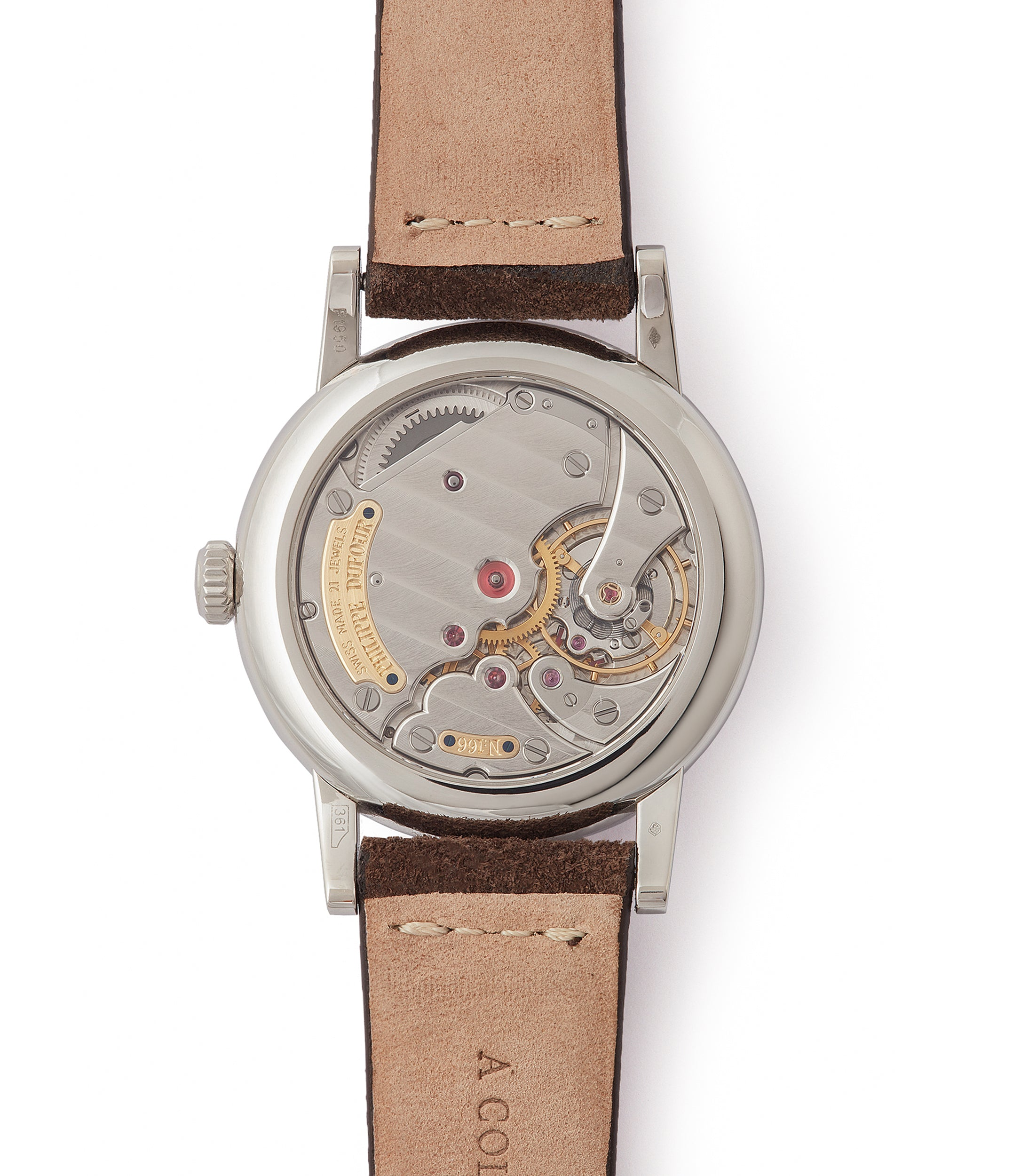 hand-made Simplicity by Philippe Dufour platinum 37mm time-only rare dress watch  for sale at A Collected Man London UK specialist of rare watches