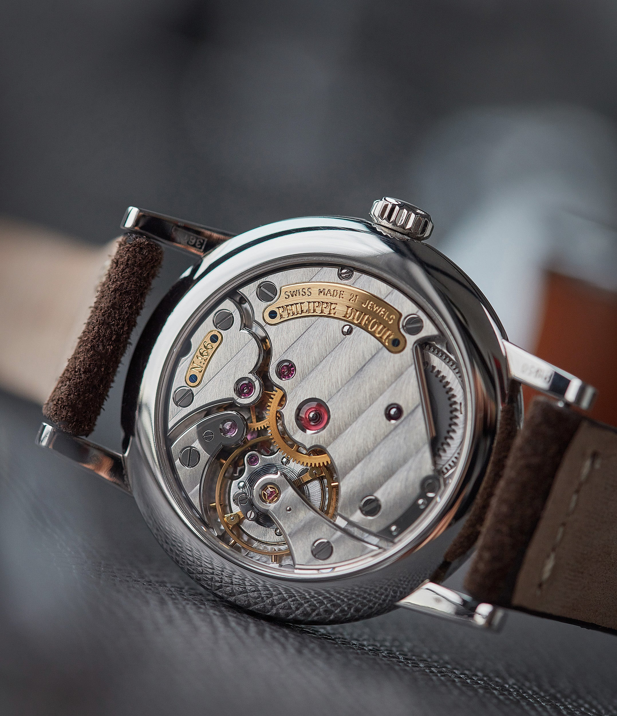 independent watchmaker Philippe Dufour's hand-made Simplicity platinum 37mm time-only rare dress watch  for sale at A Collected Man London UK specialist of rare watches