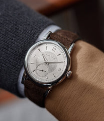 men's luxury hand-made wristwatch Philippe Dufour Simplicity platinum 37mm time-only rare dress watch  for sale at A Collected Man London UK specialist of rare watches