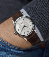 preowned approved seller for Philippe Dufour Simplicity platinum 37mm time-only rare dress watch  for sale at A Collected Man London UK specialist of rare watches