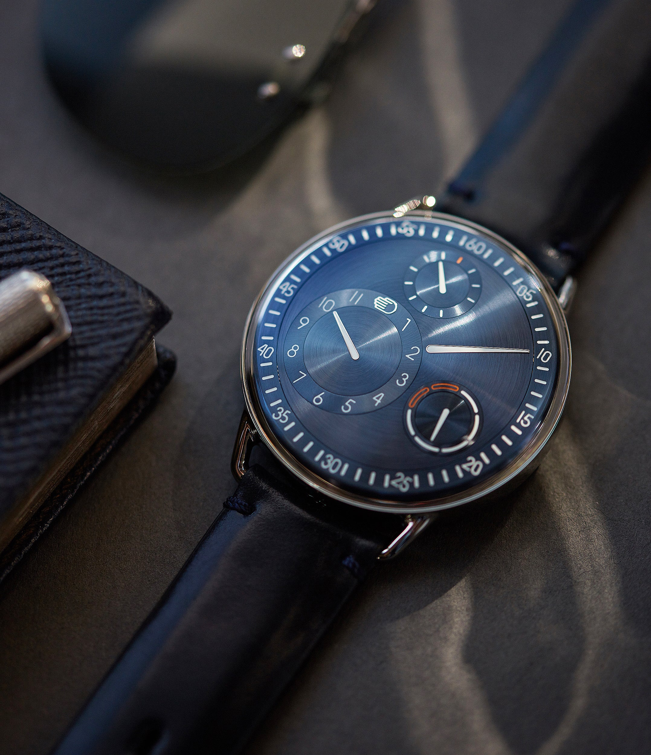 selling Ressence Type 1N titanium blue dial independent watchmaker watch for sale online at A Collected Man London UK specialist of rare watches