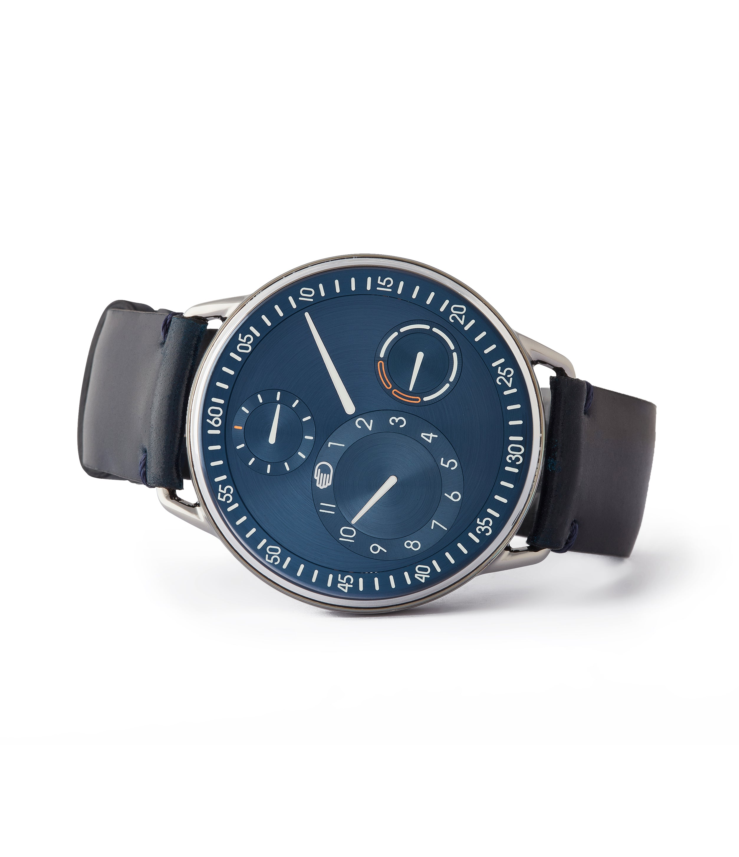 shop Ressence Type 1N titanium blue dial independent watchmaker watch for sale online at A Collected Man London UK specialist of rare watches