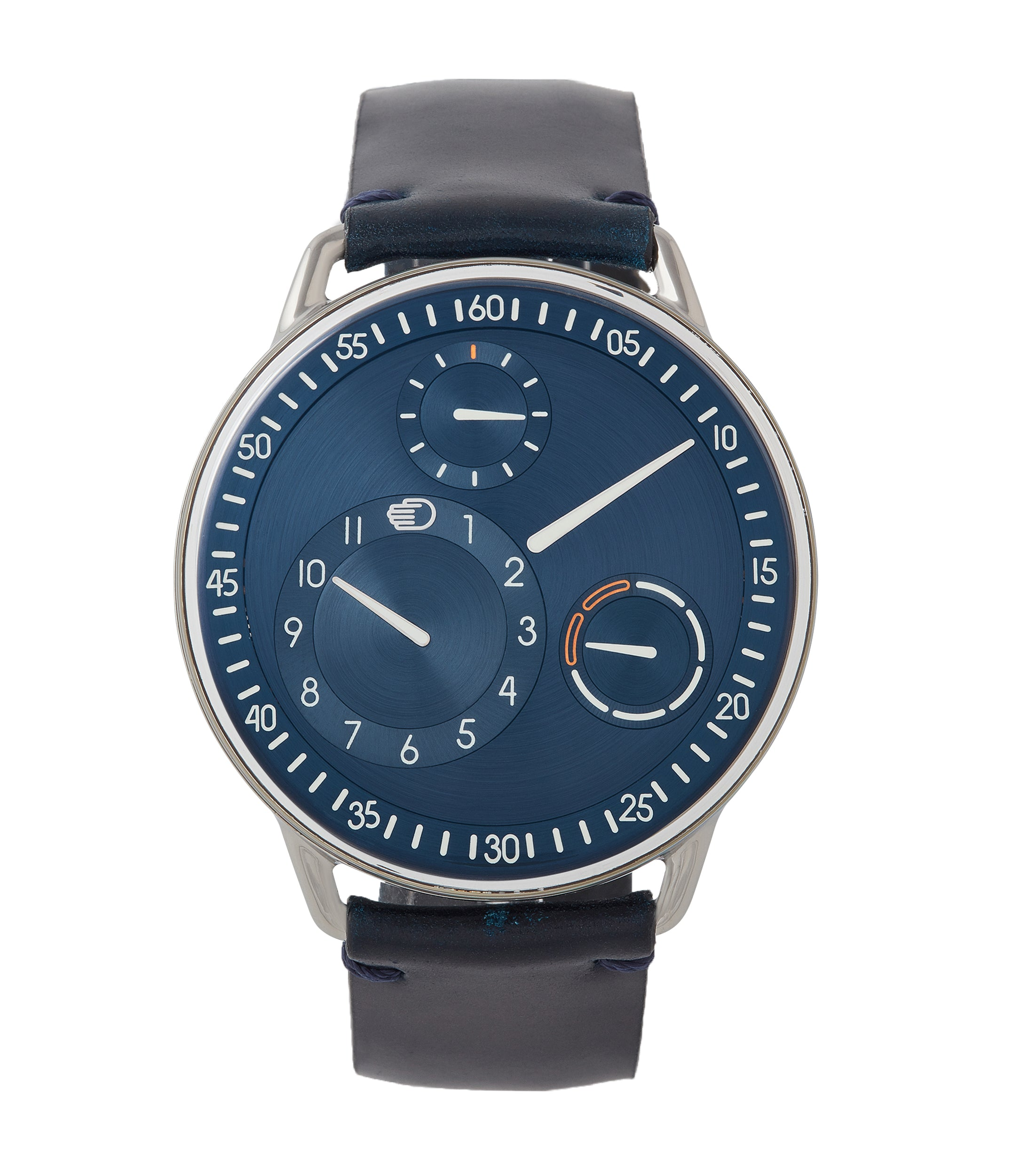 buy Ressence Type 1N titanium blue dial independent watchmaker watch for sale online at A Collected Man London UK specialist of rare watches