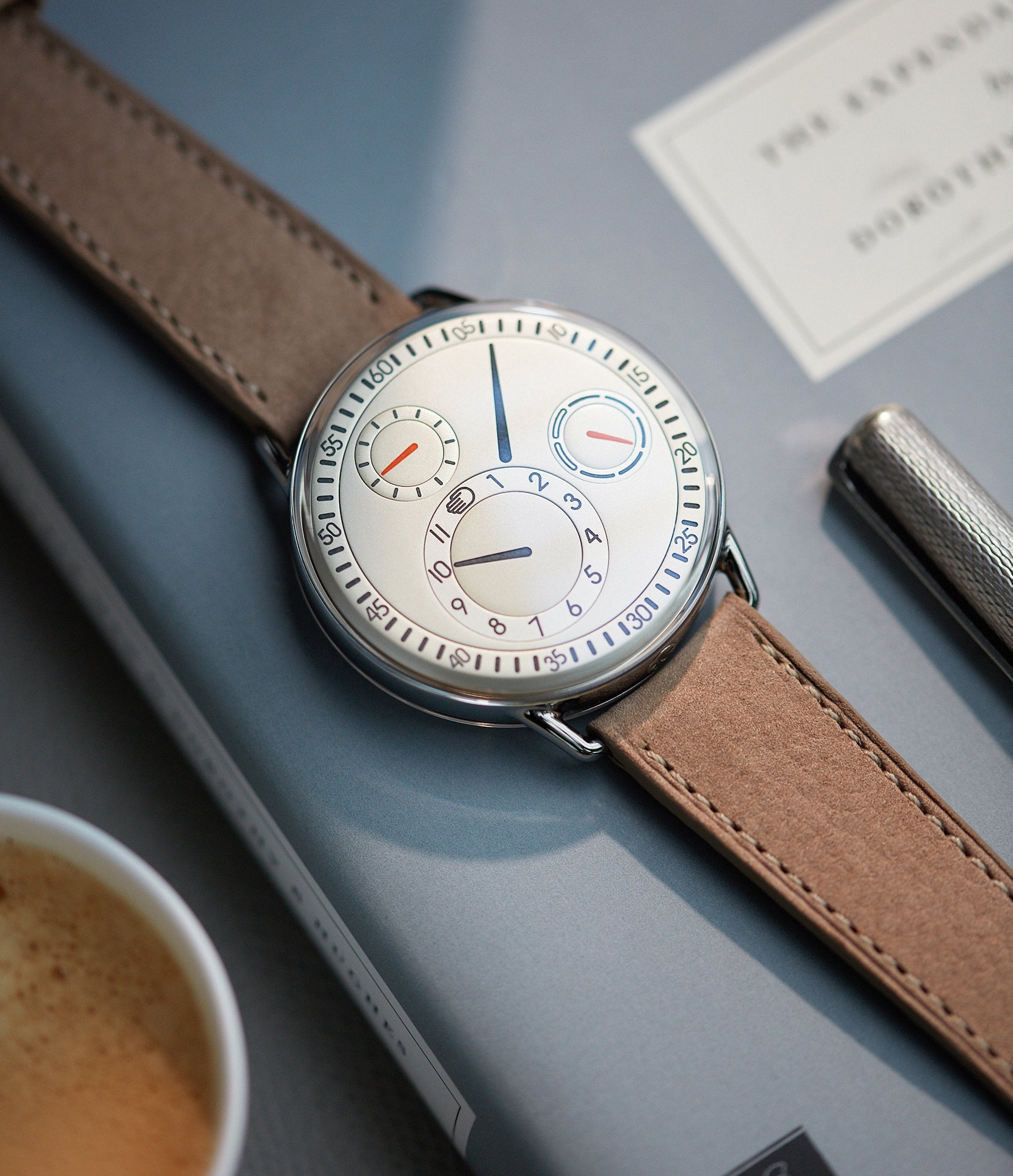 rare Ressence Type 1W calendar white dial titanium watch independent Belgian watchmaker for sale A Collected Man London UK specialist rare watches