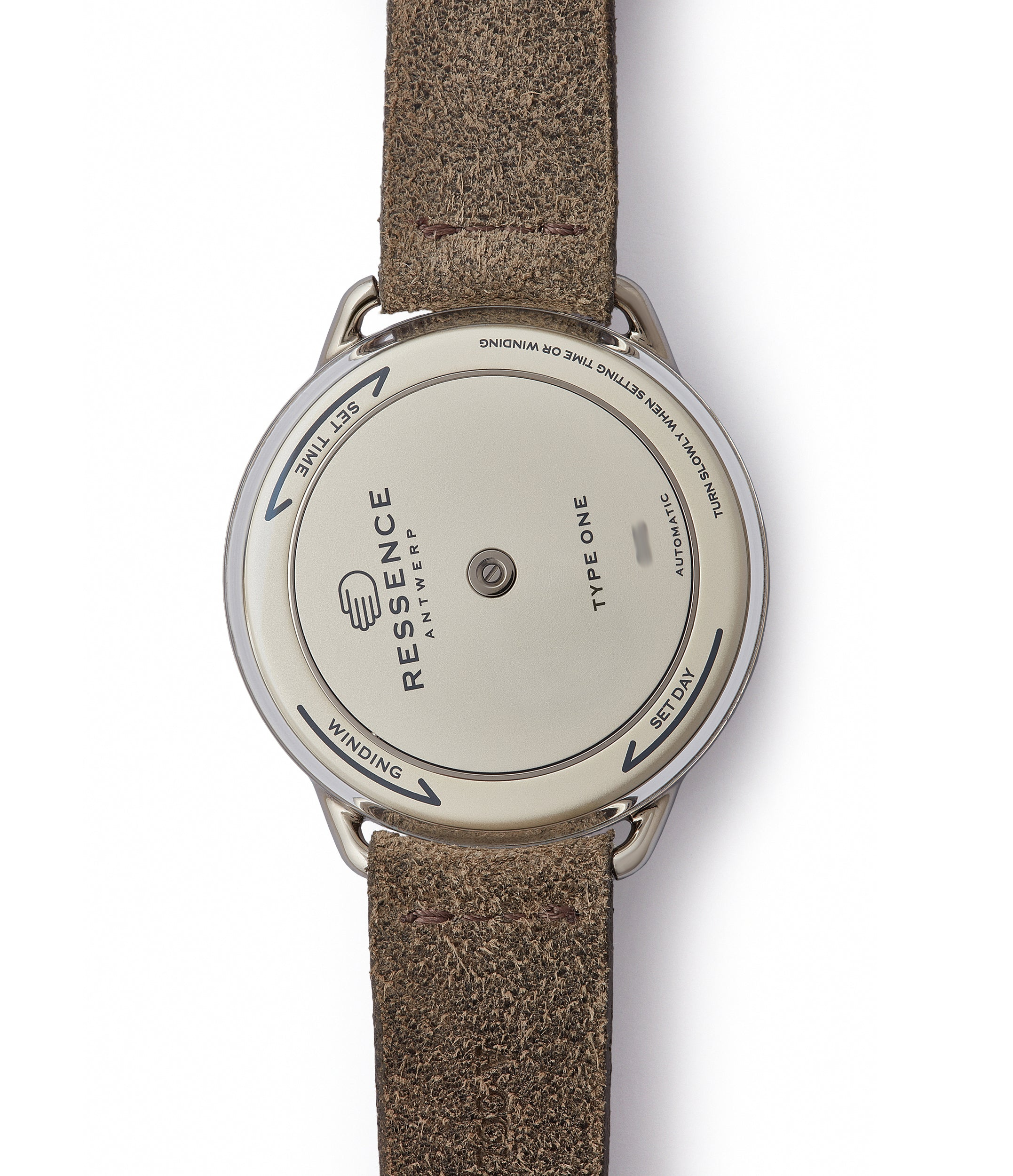 Ressence Type 1 Mechanical 42mm Titanium and Ostrich Watch for sale online at A Collected Man
