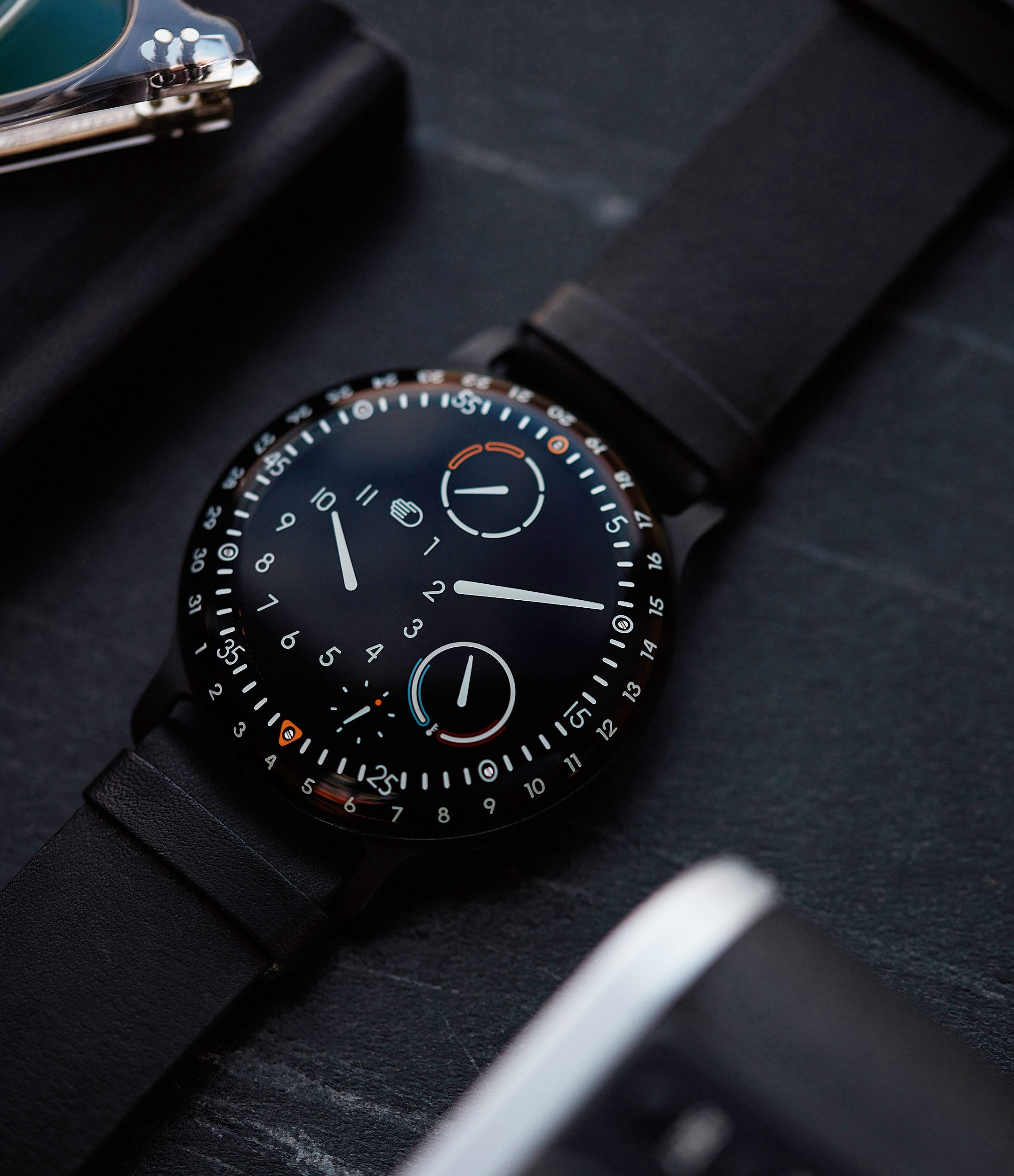 The Ressence Type 3 features both a highly unusual display and an almost unique construction. Available online at A Collected Man London