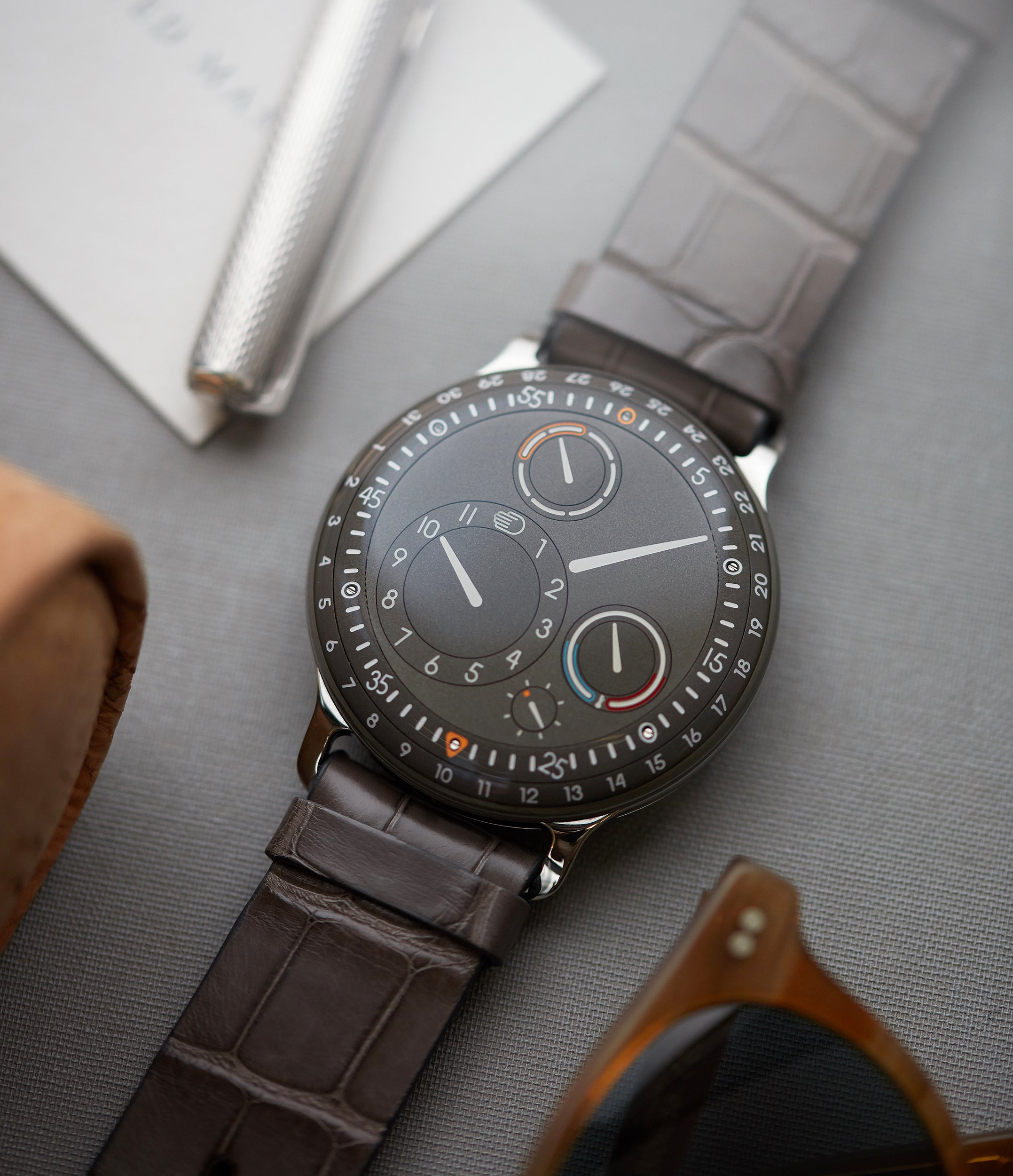 find Ressence Type 3S oil-filled grey dial watch for sale online at A Collected Man London specialist of independent watchmakers