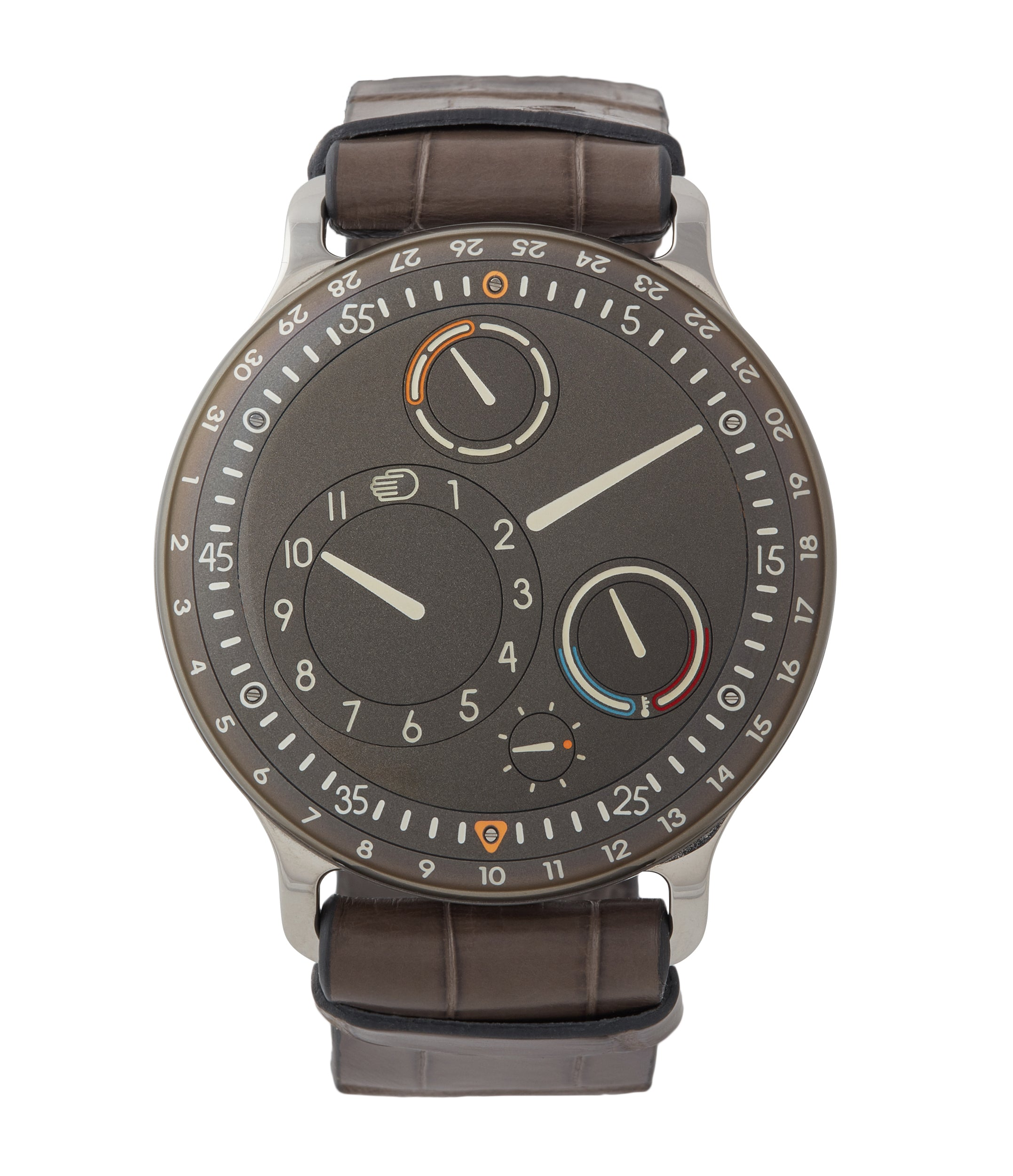 Buy Ressence Type 3S oil-filled grey dial watch for sale online at A Collected Man London specialist of independent watchmakers