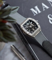 rare Richard Mille RM003-V2 titanium tourbillon dual-time pre-owned rare independent watchmaker sports traveller watch for sale online at A Collected Man London UK specialist of rare watches