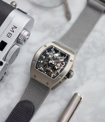dual-time traveller luxury watch Richard Mille RM003-V2 titanium tourbillon pre-owned rare independent watchmaker sports traveller watch for sale online at A Collected Man London UK specialist of rare watches