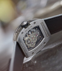 Calibre RM003-V2 Richard Mille titanium tourbillon dual-time pre-owned rare independent watchmaker sports traveller watch for sale online at A Collected Man London UK specialist of rare watches