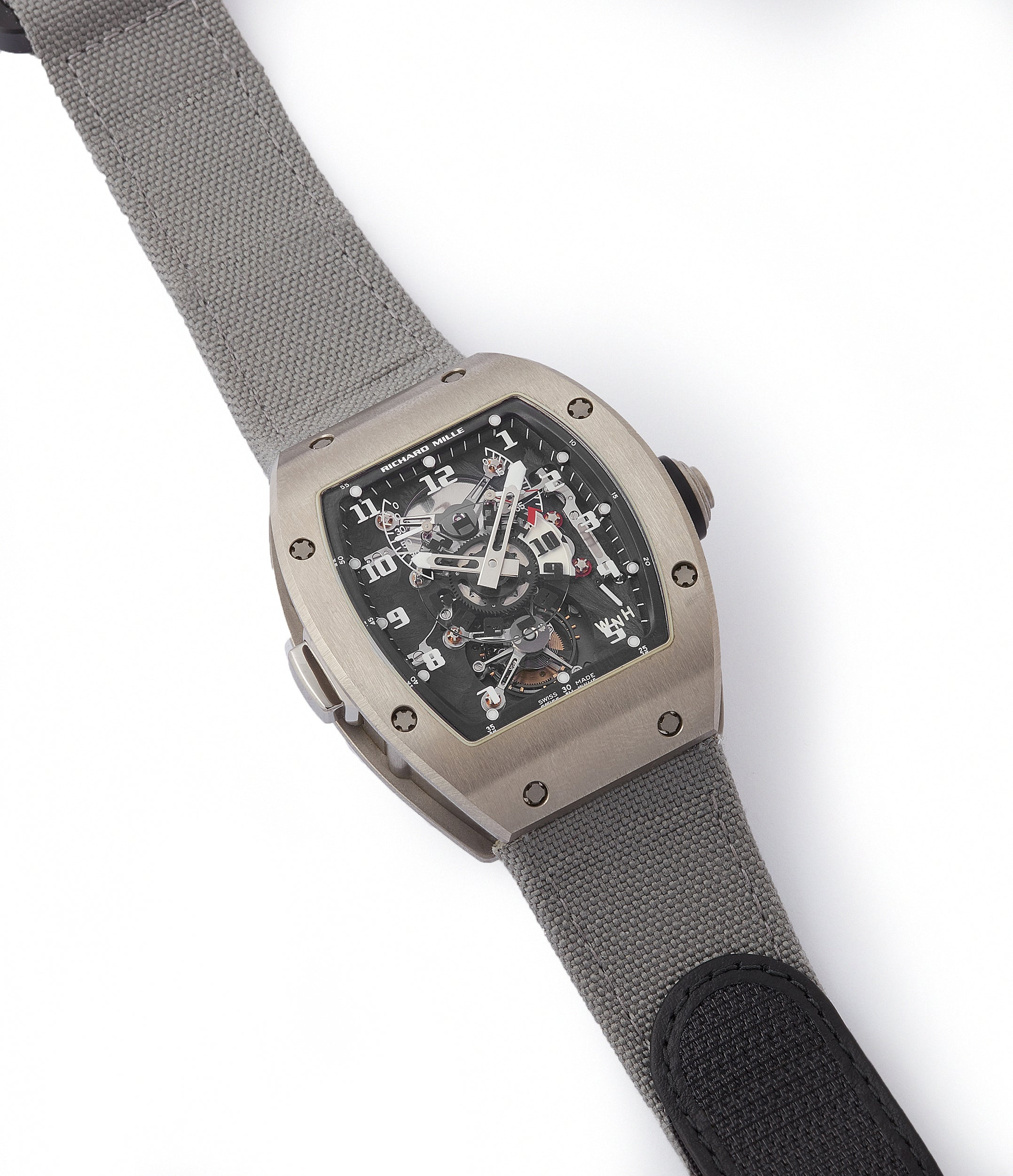 buying Richard Mille RM003-V2 titanium tourbillon dual-time pre-owned rare independent watchmaker sports traveller watch for sale online at A Collected Man London UK specialist of rare watches