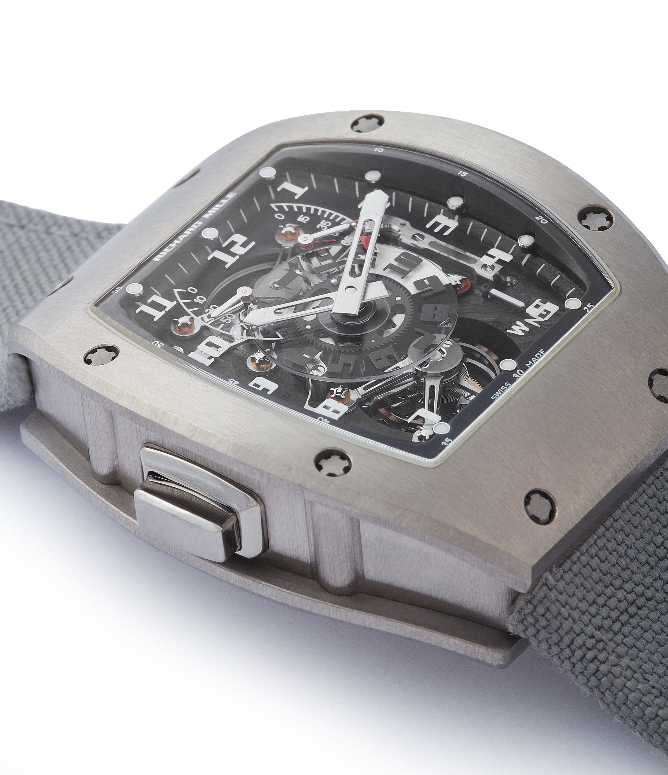 selling Richard Mille RM003-V2 titanium tourbillon dual-time pre-owned rare independent watchmaker sports traveller watch for sale online at A Collected Man London UK specialist of rare watches