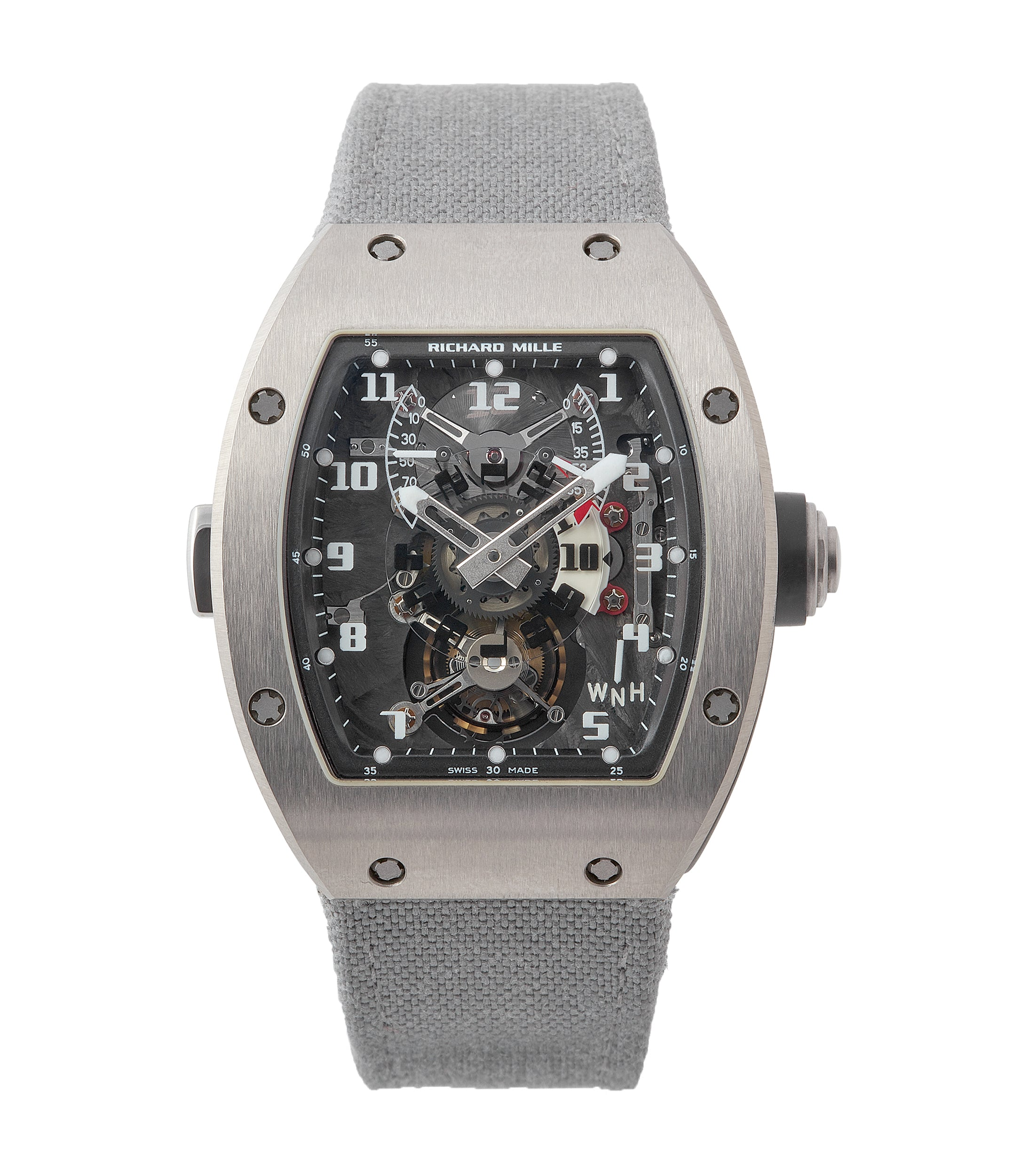 buy Richard Mille RM003-V2 titanium tourbillon dual-time pre-owned rare independent watchmaker sports traveller watch for sale online at A Collected Man London UK specialist of rare watches