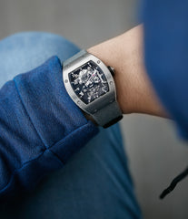Richard Mille RM003 titanium tourbillon dual-time pre-owned rare independent watchmaker sports traveller watch for sale online at A Collected Man London UK specialist of rare watches