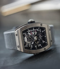 find Richard Mille RM003-V2 titanium tourbillon dual-time pre-owned rare independent watchmaker sports traveller watch for sale online at A Collected Man London UK specialist of rare watches