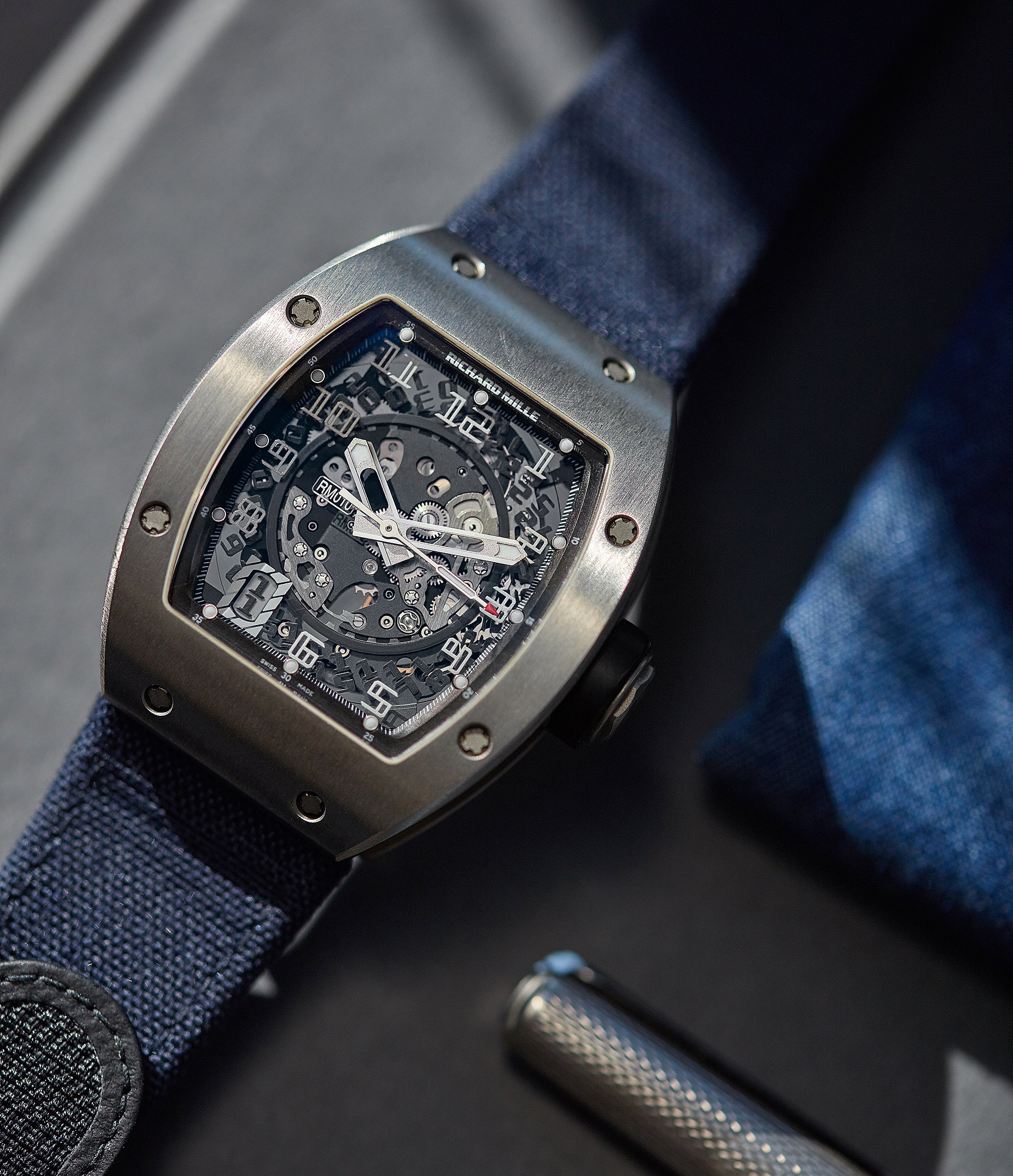 rare Richard Mille RM010 titanium rare luxury sport watch by independent watchmaker for sale online at A Collected Man London UK specialist of rare watches