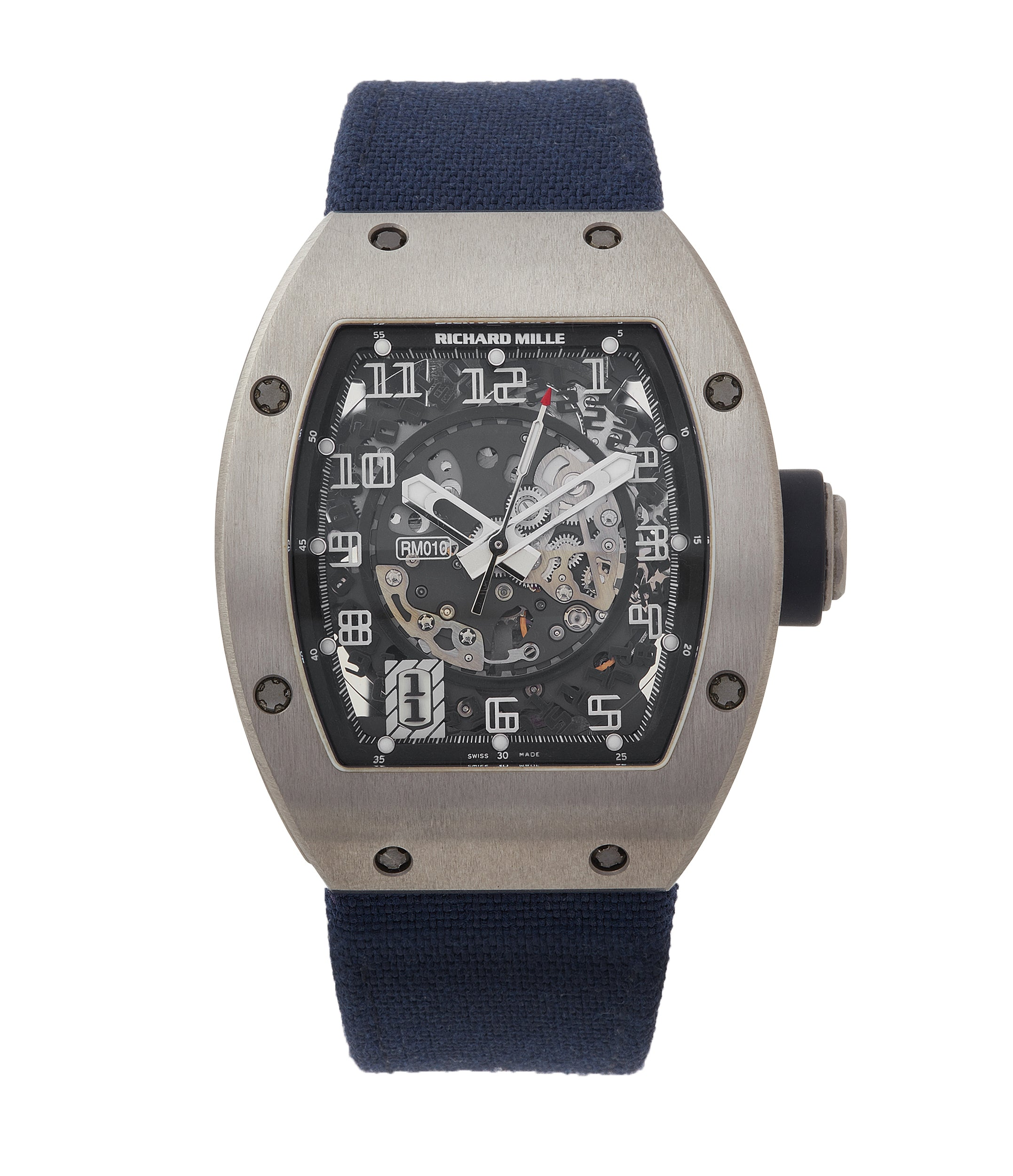 buy Richard Mille RM010 titanium rare luxury sport watch by independent watchmaker for sale online at A Collected Man London UK specialist of rare watches
