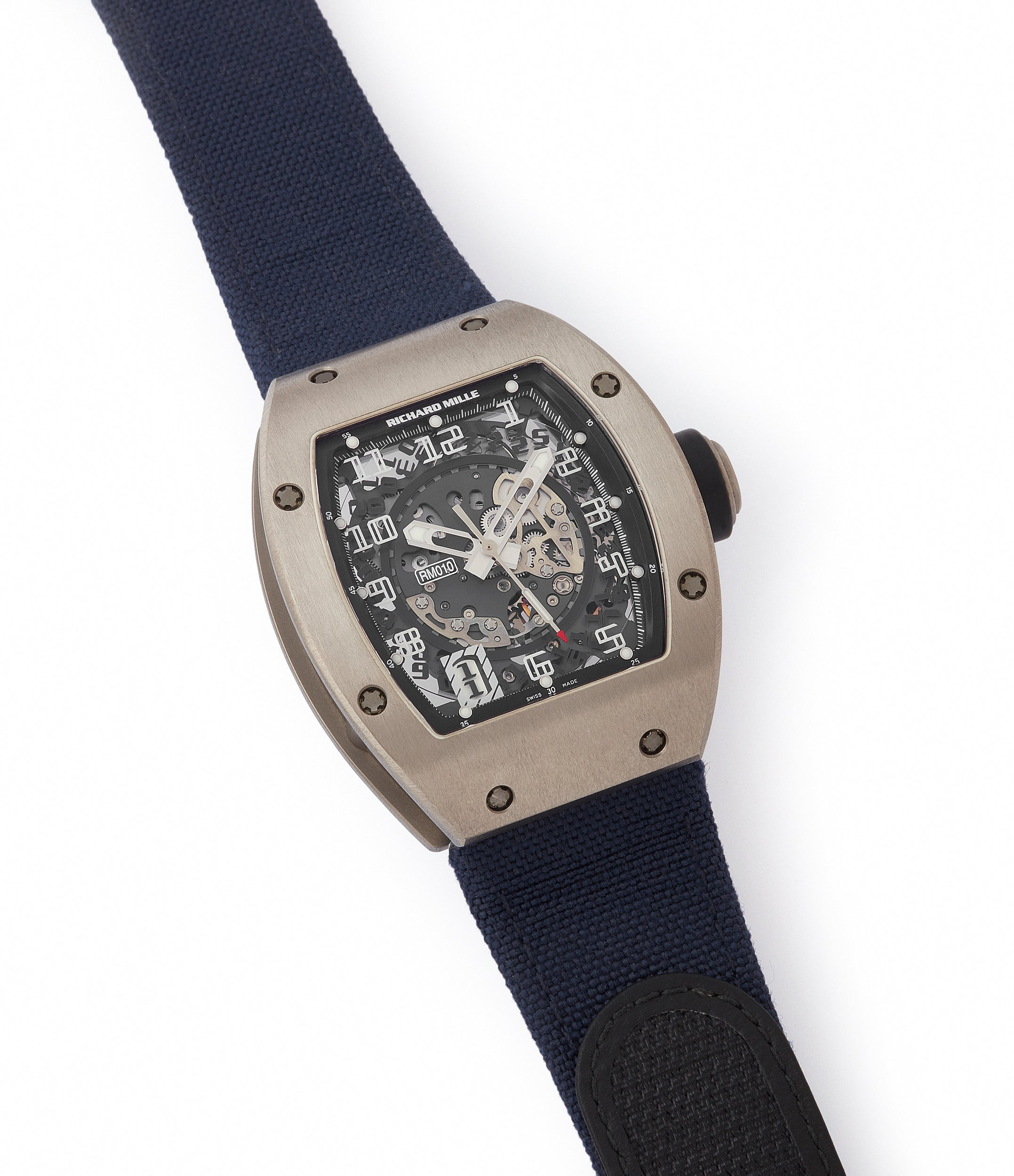 selling Richard Mille RM010 titanium rare luxury sport watch by independent watchmaker for sale online at A Collected Man London UK specialist of rare watches