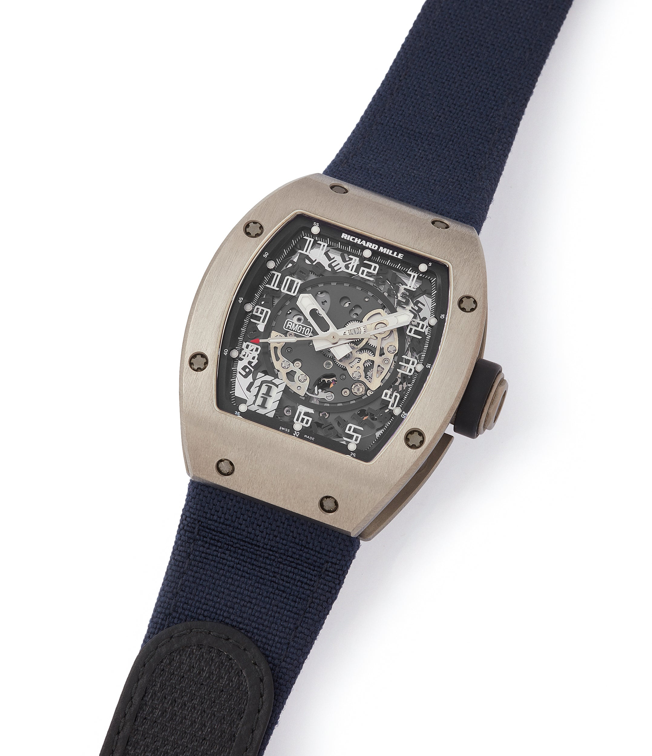 for sale Richard Mille RM010 titanium rare luxury sport watch by independent watchmaker for sale online at A Collected Man London UK specialist of rare watches