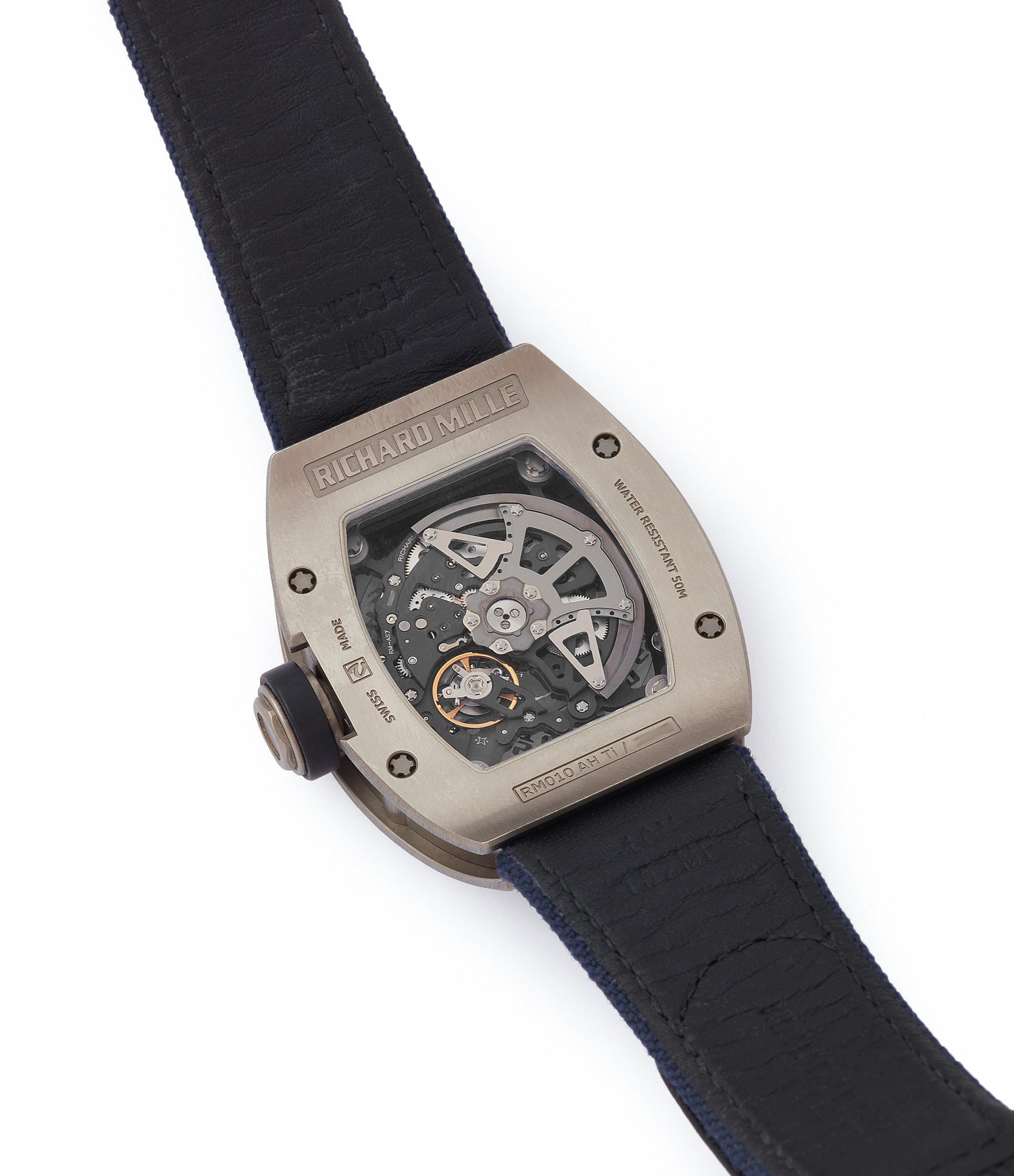 shop Richard Mille RM010 titanium rare luxury sport watch by independent watchmaker for sale online at A Collected Man London UK specialist of rare watches