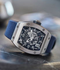 Richard Mille RM010 titanium rare luxury sport watch by independent watchmaker for sale online at A Collected Man London UK specialist of rare watches