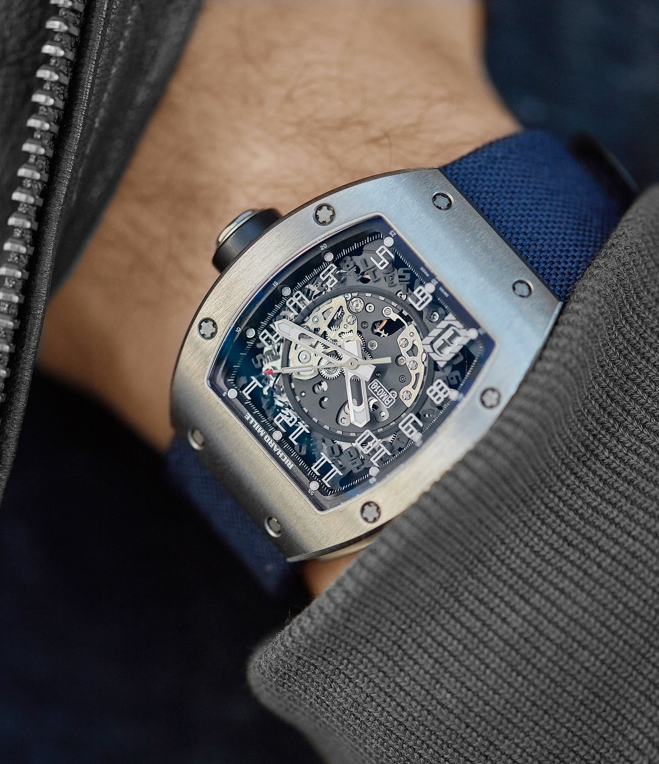men's luxury sport watch Richard Mille RM010 titanium rare luxury sport watch by independent watchmaker for sale online at A Collected Man London UK specialist of rare watches