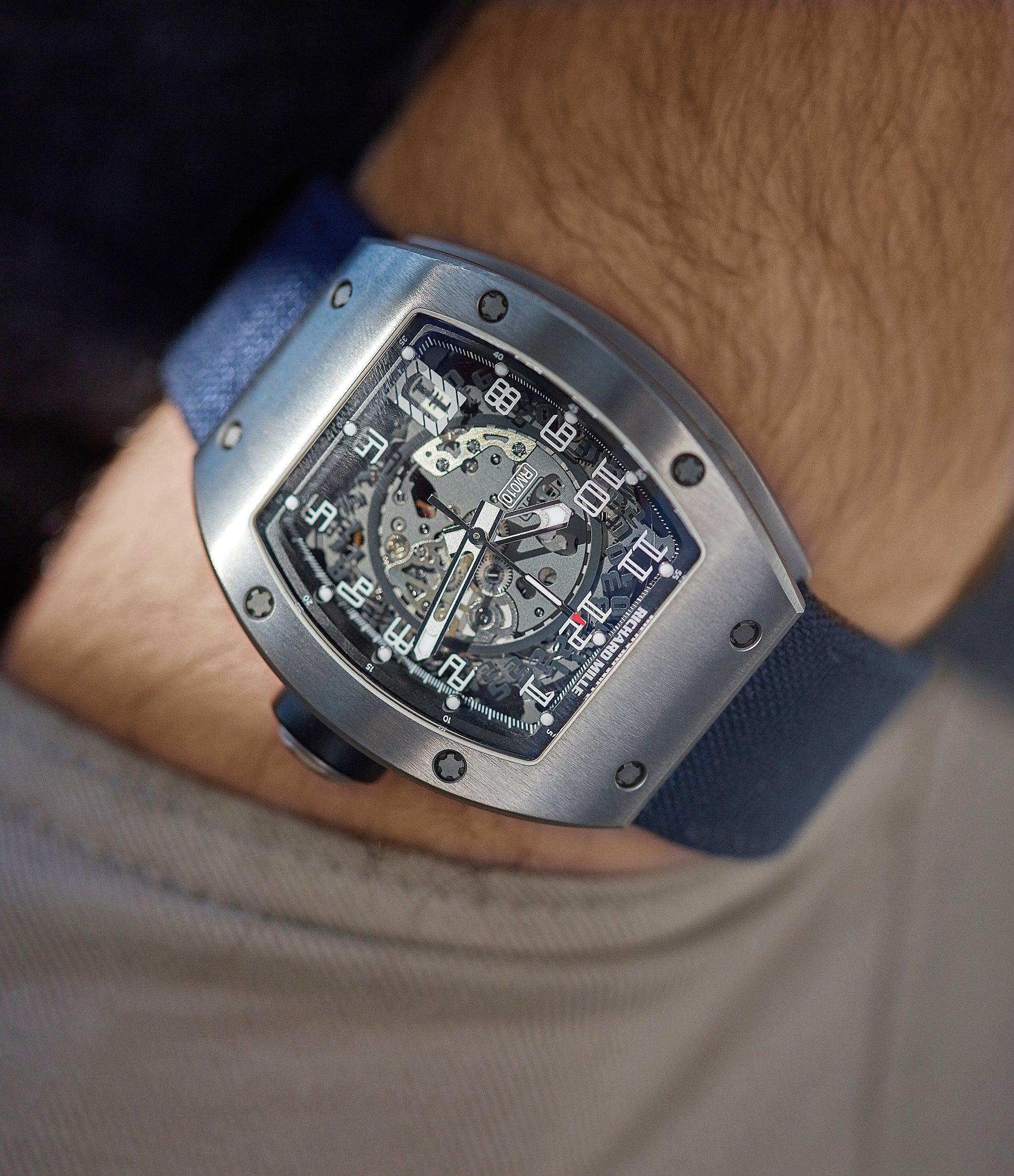 wristwatch Richard Mille RM010 titanium rare luxury sport watch by independent watchmaker for sale online at A Collected Man London UK specialist of rare watches