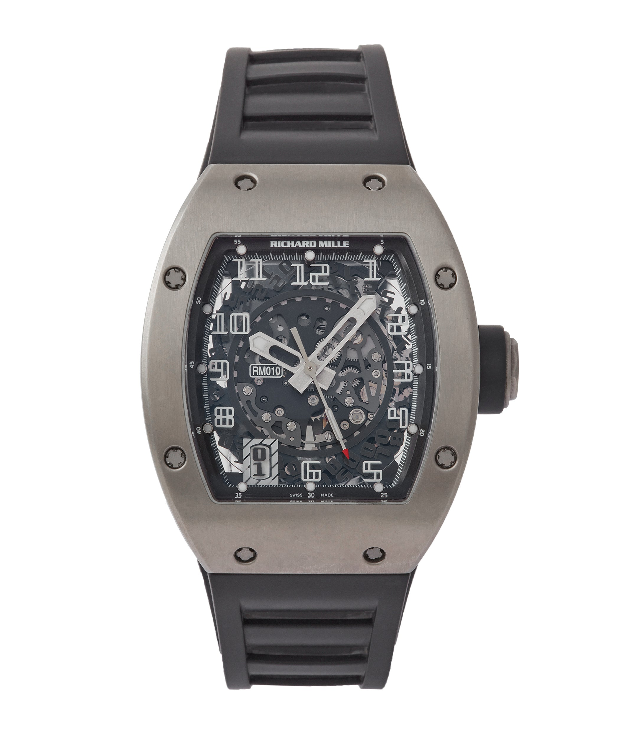 Richard Mille RM010 titanium men's sports luxury wristwatch for sale online A Collected Man London UK specialist rare independent watchmakers