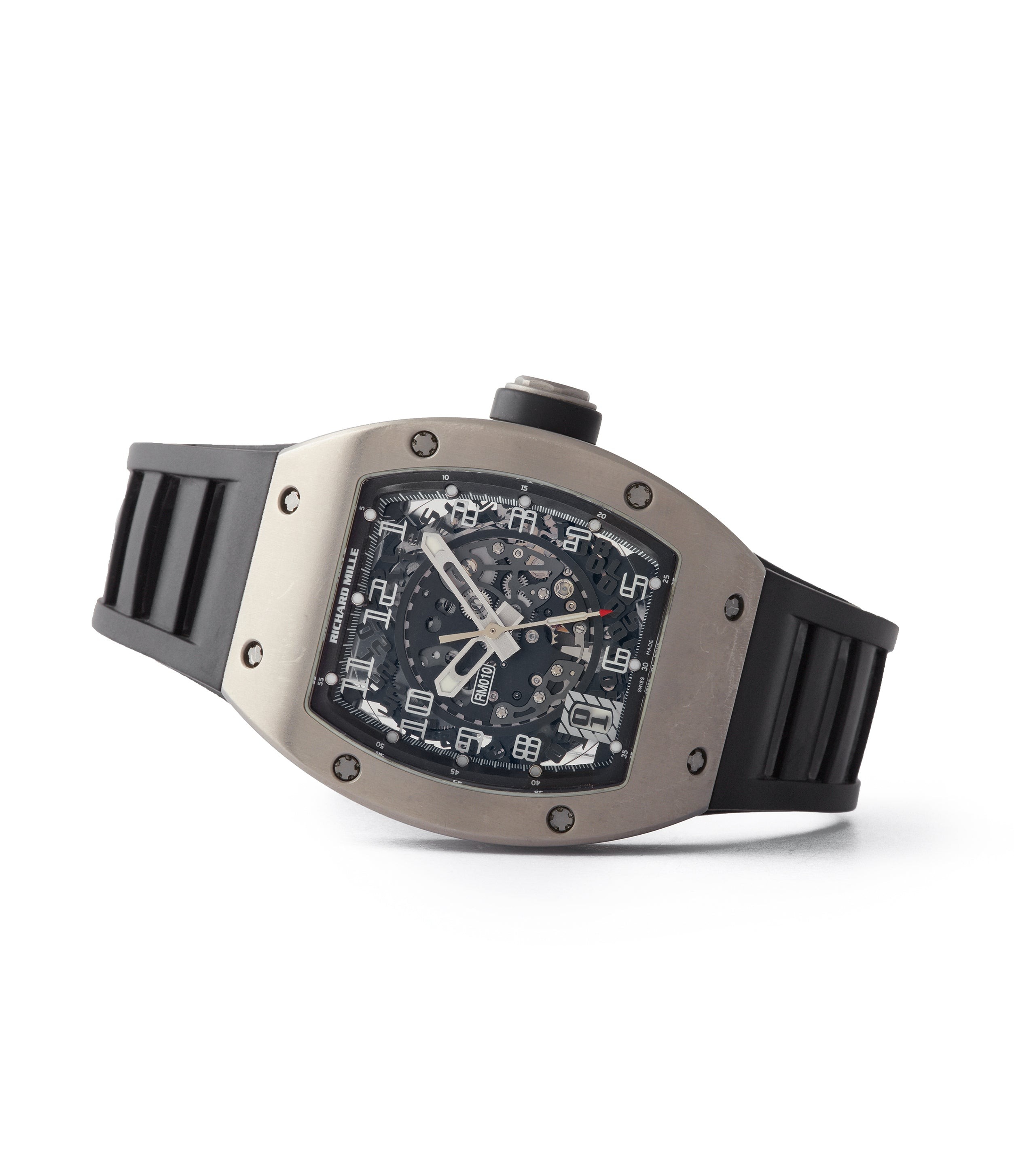 RM010 pre-owned Richard Mille RM 010TI titanium men's sports luxury wristwatch for sale online A Collected Man London UK specialist rare independent watchmakers