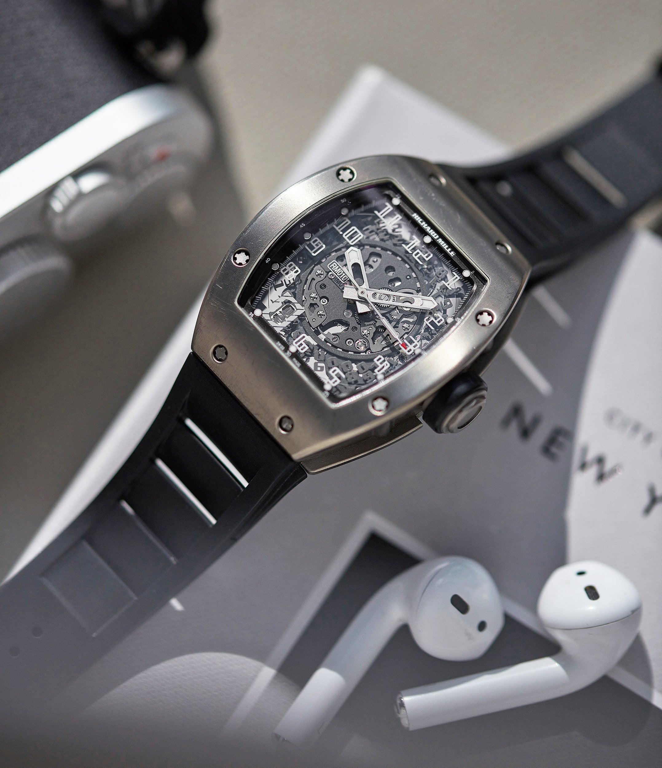 selling Richard Mille RM 010TI titanium men's sports luxury wristwatch for sale online A Collected Man London UK specialist rare independent watchmakers