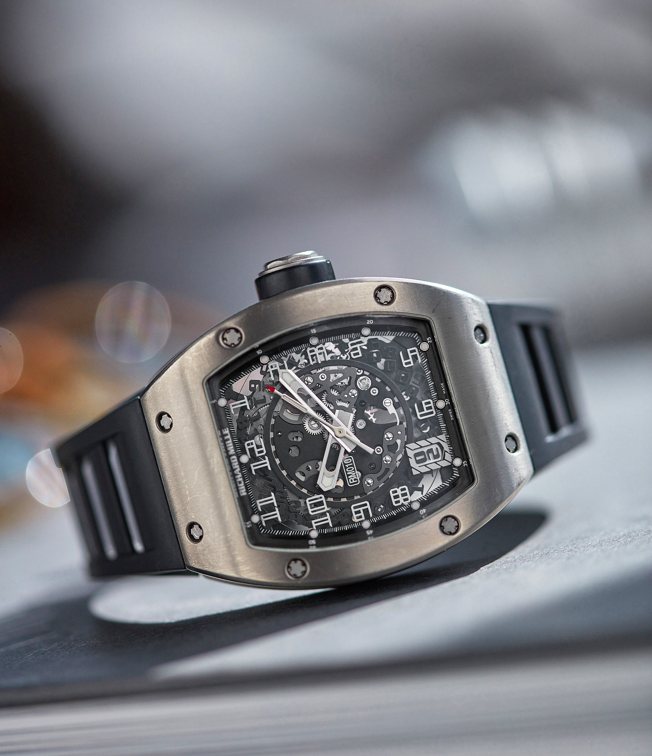 pre-owned rare Richard Mille RM 010TI titanium wristwatch for sale online A Collected Man London UK specialist rare independent watchmakers