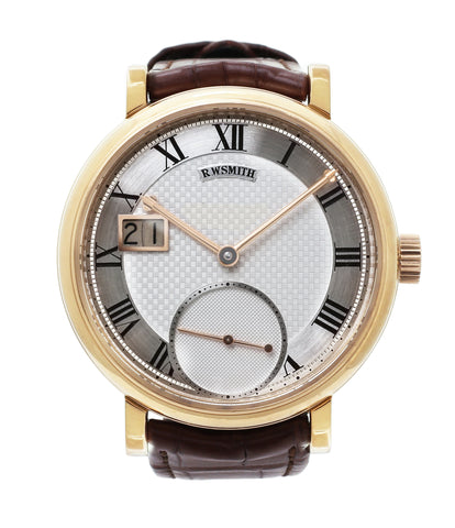 buy Roger Smith rare watch Grande Panorama date flying tourbillon No. 1 red gold dress watch at A Collected Man approved reseller of independent watchmakers