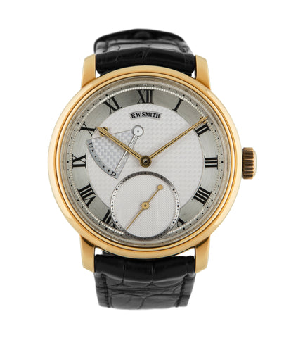 Buy Roger W. Smith's first Series 2 watch online in yellow gold with hand-made manual-winding movement from independent watchmaker at WATCH XCHANGE London