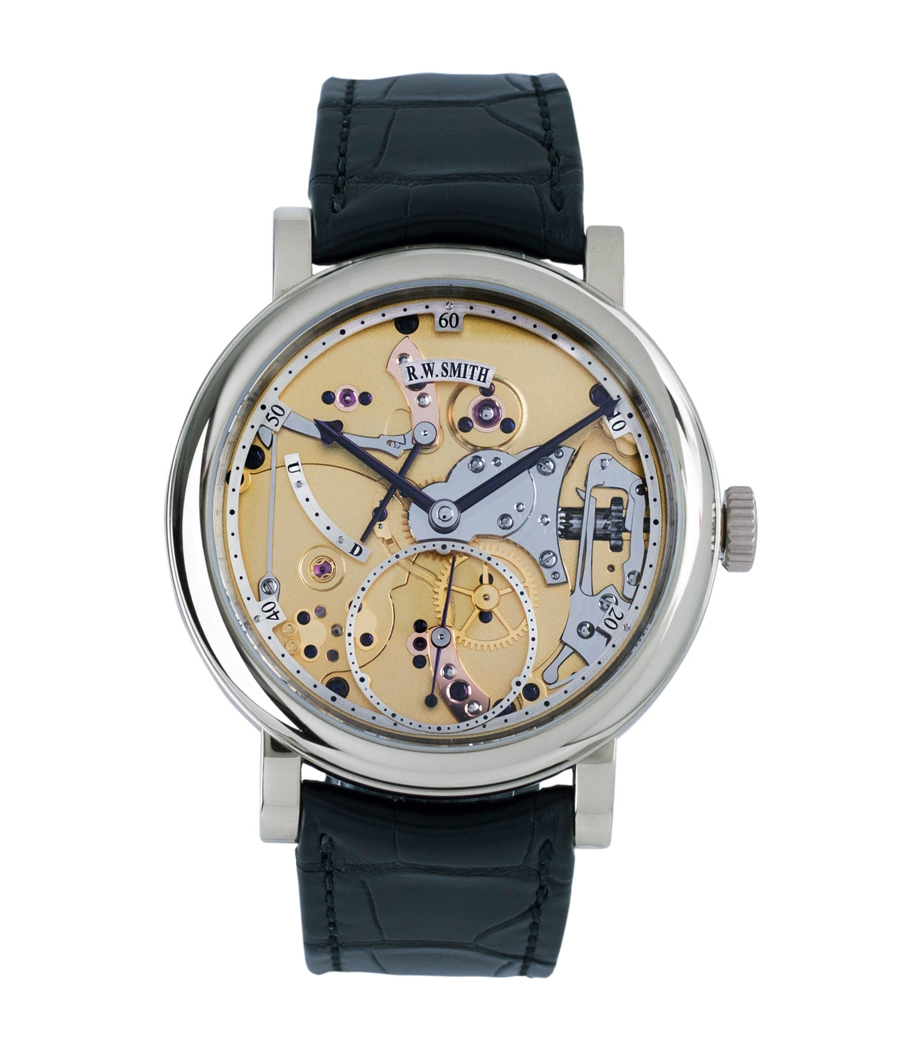 buy Roger Smith Series 2 Open Dial white gold new watch for sale online at A Collected Man London specialist approved seller of independent watchmakers UK