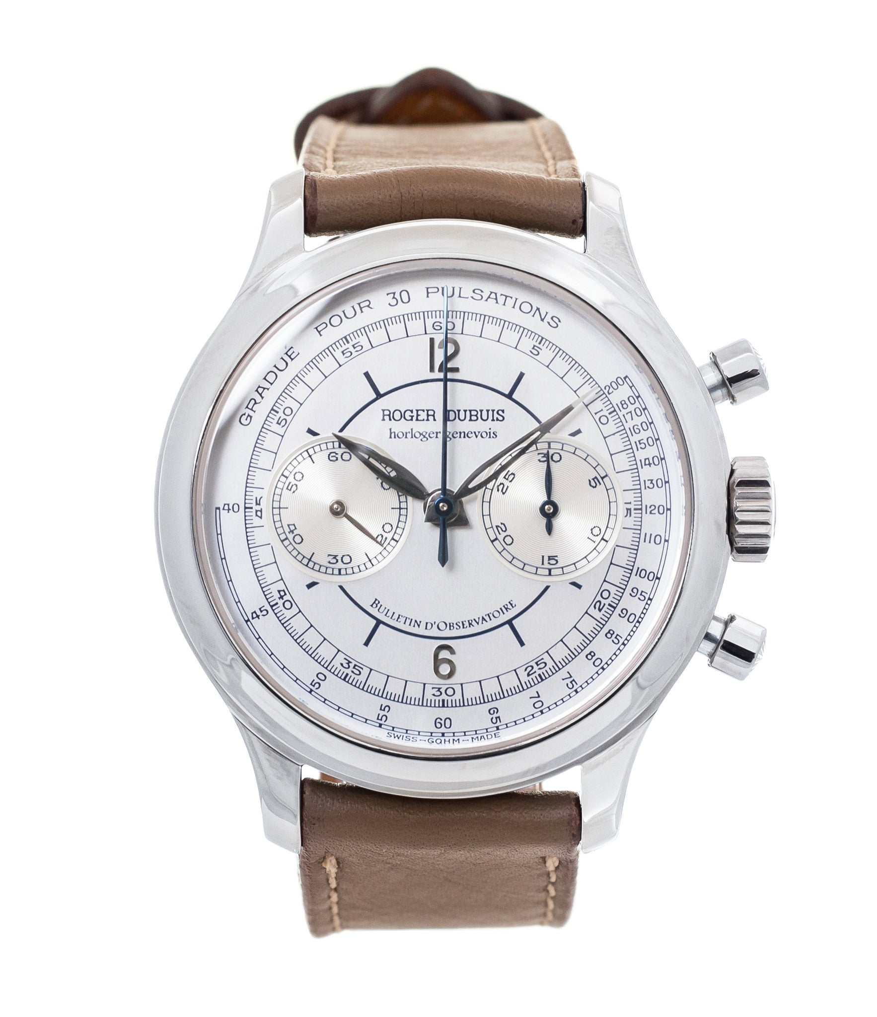 buy Roger Dubuis Hommage Chronograph early rare watch H37 560 online at a Collcted Man