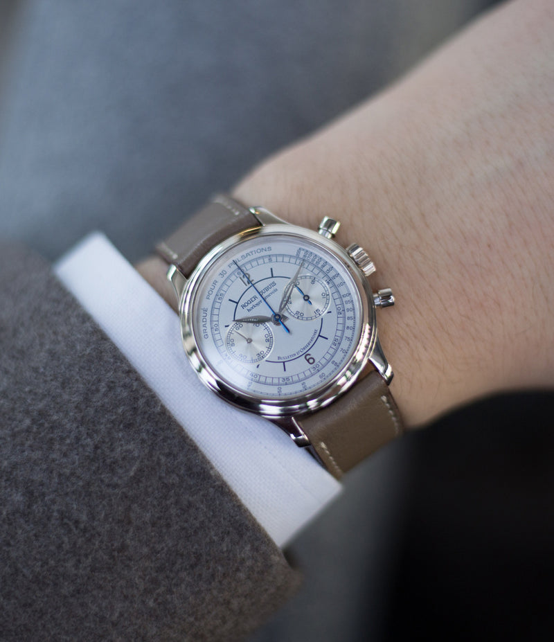 on the wrist buy Patek Philippe 4065A-001 dicontinued steel automatic Cal. 315 time-only dress watch full set online WATCH XCHANGE LONDONbuy Roger Dubuis Hommage Chronograph early rare watch H37 560 online at a Collcted Man