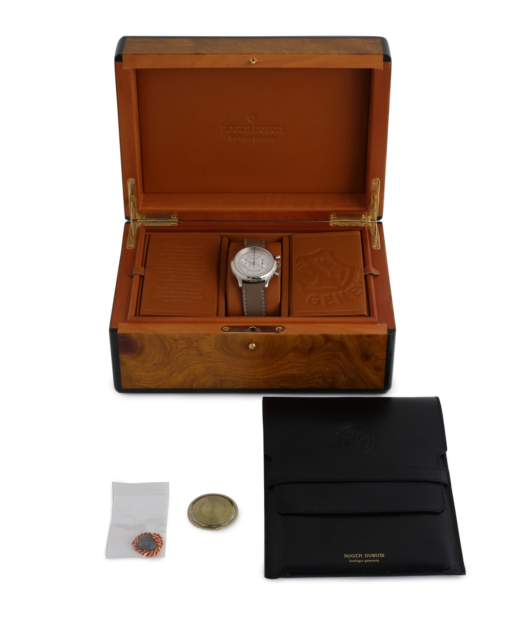 full set box Roger Dubuis Hommage Chronograph early rare watch H37 560 online at a Collcted Man