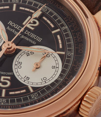 Chronograph Roger Dubuis Hommage Cal. RD56 H37 560 rose gold watch black dial for sale online at A Collected Man London UK specialist of rare watches