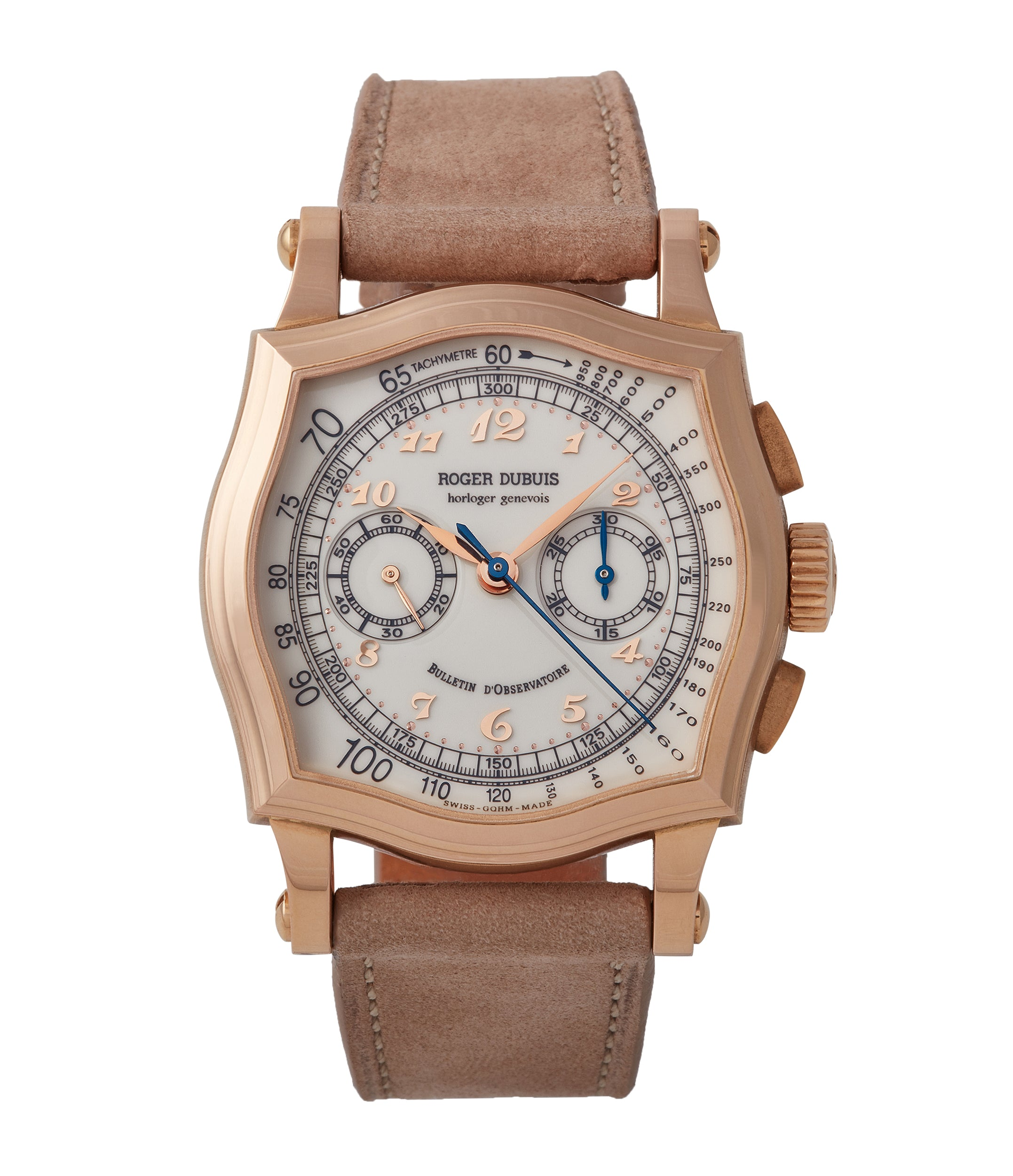 buy Roger Dubuis Sympathie Chronograph S37 56 0 rose gold dress watch for sale online at A Collected Man London UK specialist of independent watchmakers