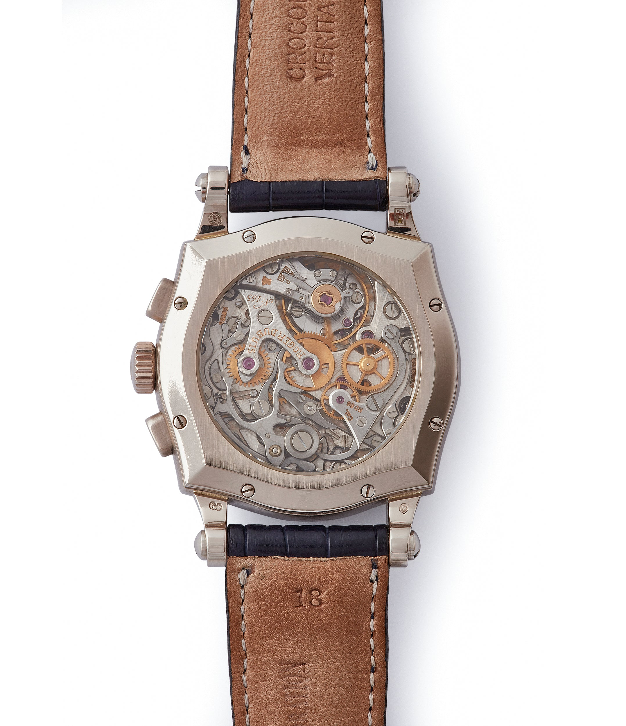 mechanical Sympathie Chronograph Roger Dubuis S37 Limited Edition white gold dress watch from independent watchmaker for sale online at A Collected Man London UK specialist of rare watches