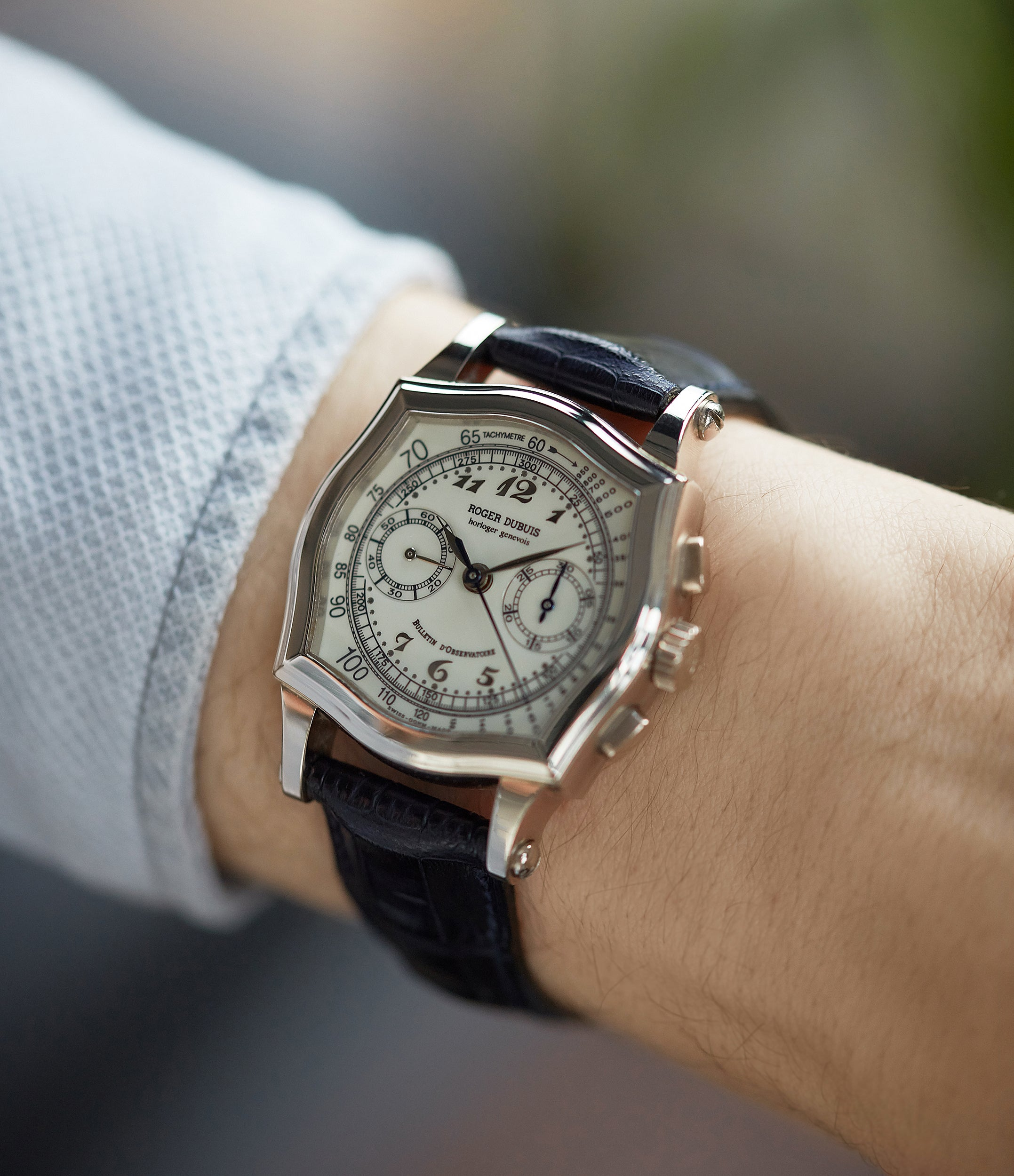 Sympathie Chronograph S37 Roger Dubuis Limited Edition white gold dress watch from independent watchmaker for sale online at A Collected Man London UK specialist of rare watches