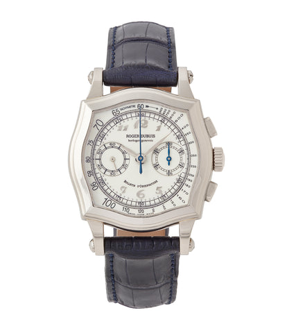 buy Roger Dubuis Sympathie Chronograph S37 Limited Edition white gold dress watch from independent watchmaker for sale online at A Collected Man London UK specialist of rare watches