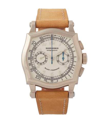 buy Roger Dubuis Sympathie Chronograph S37560 Limited Edition white gold pre-owned watch for sale online at A Collected Man London UK specialist of independent watchmakers
